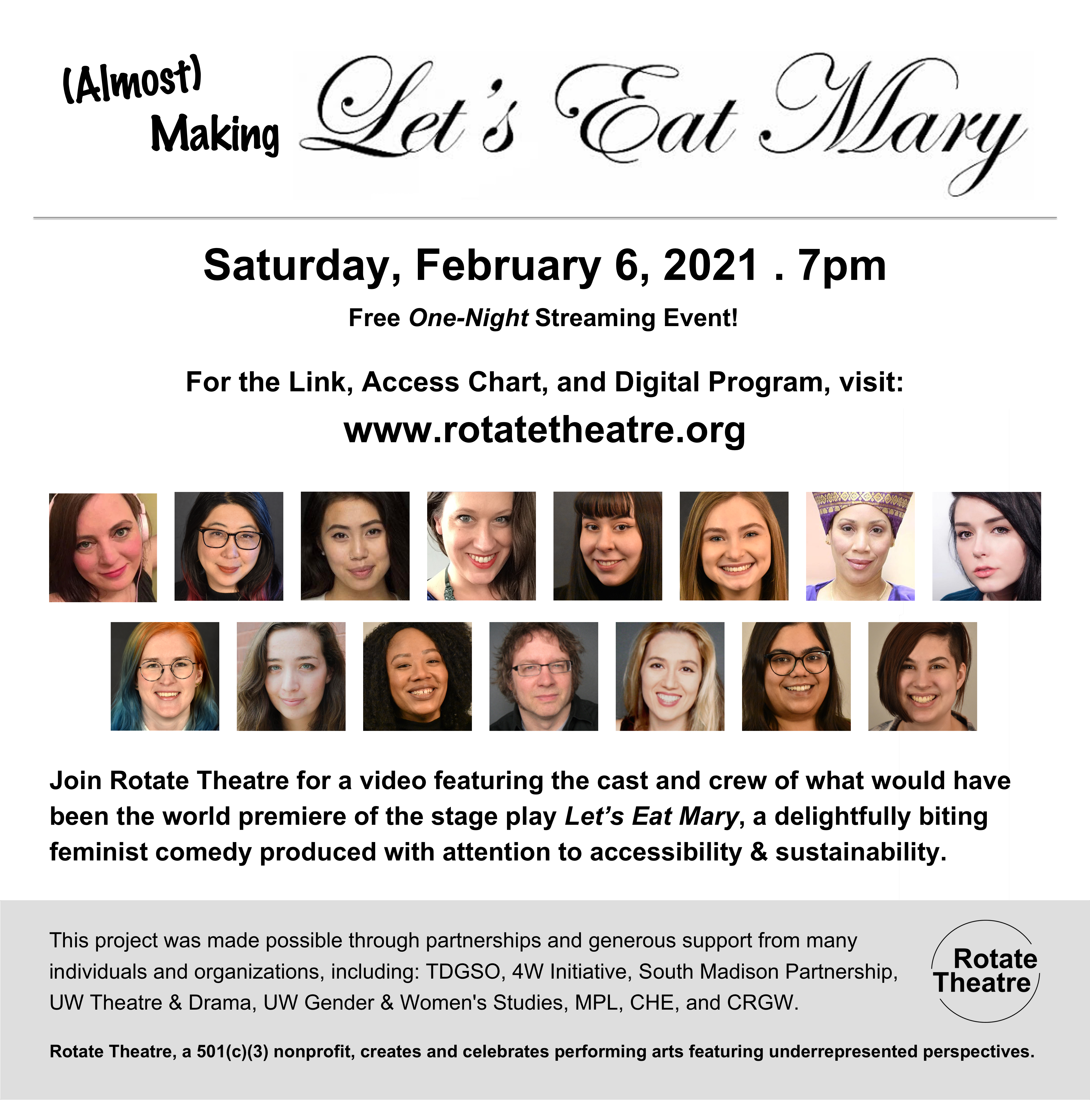 Almost Making Let's Eat Mary flyer